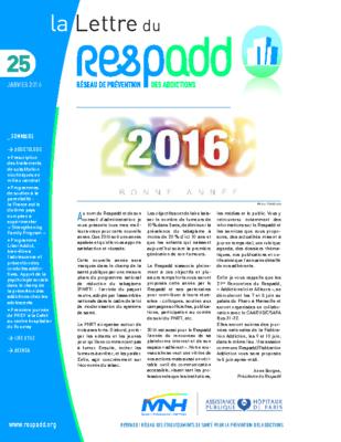 La lettre du Respadd 25