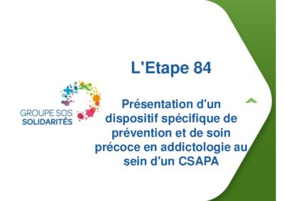 Présentation d'un dispositif spécifique de prévention et de soin précoce en addictologie au sein d'un CSAPA