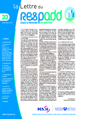 La lettre du Respadd 33
